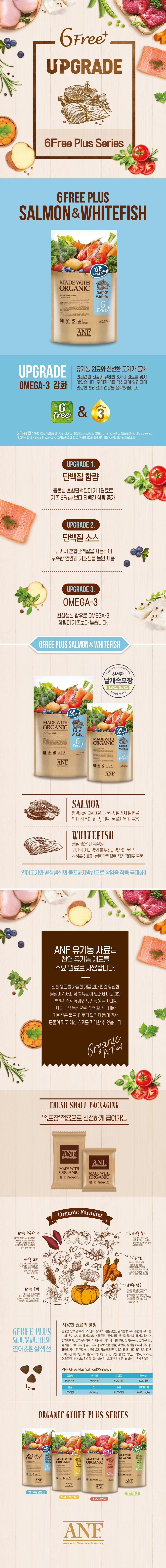 [오구오구특가]ANF 유기농 6FreePlus 연어&흰살생선 1.8kg (2개세트)-상품이미지-0
