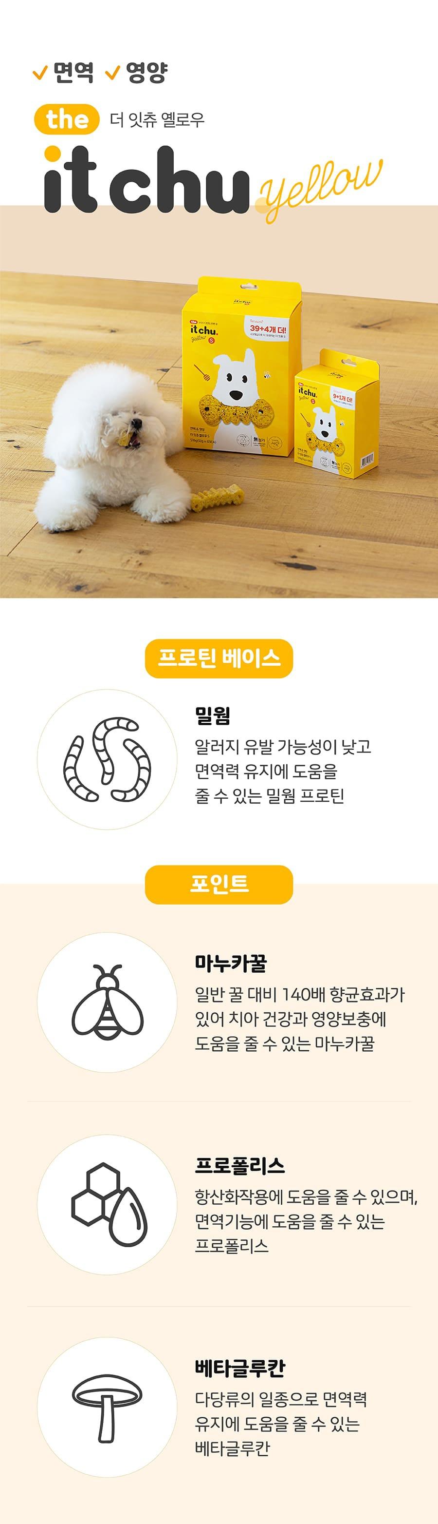 [오구오구특가]it 더 잇츄 옐로우 s (10개입)-상품이미지-17
